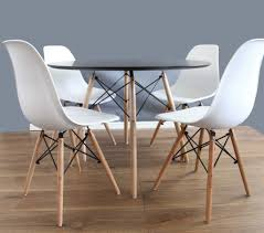 round white dining table and chairs set 80cm 4 eames