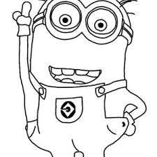 Small Picture Minion Coloring Pages Two Eyed Minion Coloring Page Despicable Me