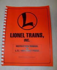 lionel e unit lionel factory instruction manual for rivet press e unit repair