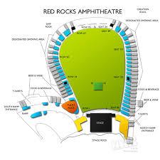 Red Rocks Amphitheatre Seating Chart Red Rocks Amphitheatre