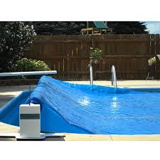 above ground pool solar covers. Pool Boy III Battery-Powered Solar Blanket Reel From In The Swim\u0027s Above Ground Covers L