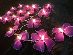 amazing garden lighting flower. Beautiful Led Light Strings With Purple Flower Design For Amazing Outdoor String And Backyard Garden Lighting
