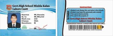 Identity Card Format For Student High School Id Template Best Of 30 Beautiful School Id Card Template