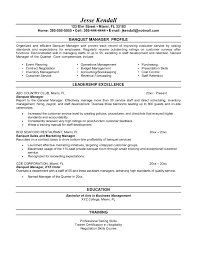 Banquet Manager Resume Sample Najmlaemah Com