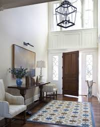 entry hallway table and chaise table lamp with foyer pertaining to front door chandelier