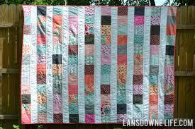 Modern patchwork stripes twin quilt - Lansdowne Life & Modern patchwork stripes twin quilt Adamdwight.com