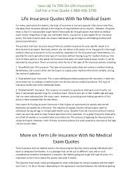 Term Life Insurance Quotes No Medical Exam Best Life Insurance Quotes With No Medical Exam