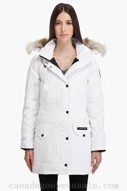 ... canada goose women trillium parka in white