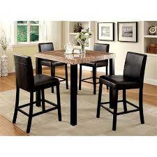 Furniture of America Kenneth 5 Piece Counter Height Dining Set - IDF-3278PT- 5PC IDF