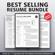Ms Office Cover Letter Template 2019 Best Selling Ms Office Word Resume Cv Bundle The Rachel