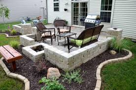 cly patio design ideas featuring brick stone flooring