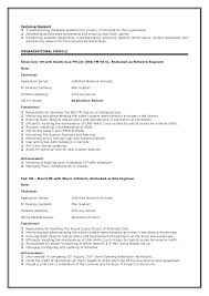 Resume For Technical Support Technical Support Engineer Resume