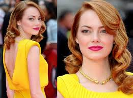 emma stone yellow dress makeup