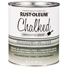 Decorative Glaze Rustoleum Rust Oleum 30 Oz Chalked Smoked Glaze Case Of 2 315883 The