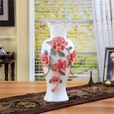 ceramic big white modern flowers vase home decor large floor vases for  wedding decoration ceramic handicraft porcelain figurines-in Vases from  Home & Garden ...