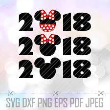 SVG <b>Mickey</b> Minnie <b>Mouse Themes</b> 2018 Year Cricut Cameo ...