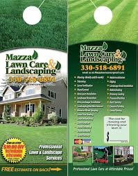 Lawn Care And Landscaping Door Hangers Lawn Care Landscaping Door