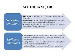 ppt my dream job towards perfect education powerpoint my dream job