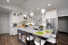 new bungalow kitchen white with gray transitional kitchen