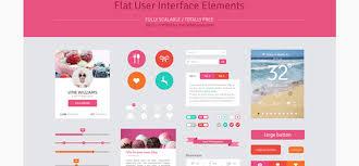 20 Free Flat Ui Kits Psd Website Templates