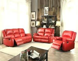 red reclining with console contemporary sofa set faux leather bonded double glider 2 loveseat recliner reclin