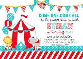 Carnival Birthday Invitations Circus Birthday Party Invitation