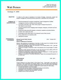 Resume Examples And Samples Construction Management Sample