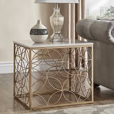 gold end table. Axel Gold End Table With Marble Top By INSPIRE Q Bold