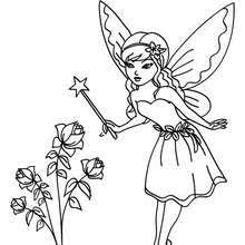 Small Picture Fairy sleeping on a flower coloring pages Hellokidscom