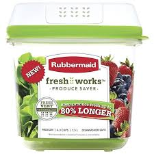 fresh works rubbermaid produce saver medium freshworks food storage containers 3 piece set