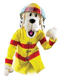 sparky the fire dog. fire safety tips from the national protection association sparky dog a