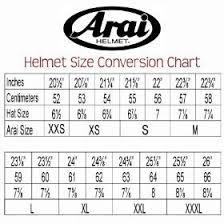 Arai Gp6 Helmet Size Chart Tripodmarket Com