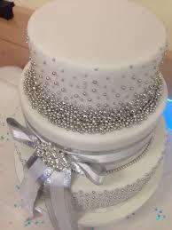 25th Silver Wedding Anniversary Cake Cakecentralcom