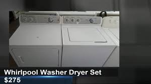 Appliances Tampa Whirlpool Washer Dryer Set For Sale Tampa 275 Youtube