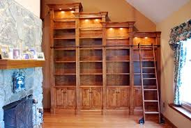 Custom Made Stair Step Bookcase