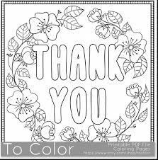 Wonderful Thank You Coloring Pages