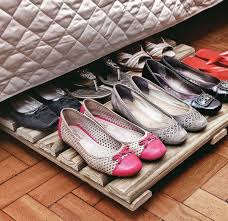 Under The Bed Shoe Storage On Wheels Wood Rack Shoe Organizer Under Bed Unexpensive And Functional 9