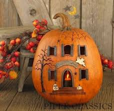 haunted house pumpkin these are the best carved decorated pumpkin ideas
