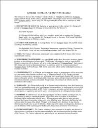 Service Agreement General Service Agreement Template Template Featuring General 14