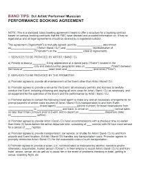 Band Performance Contract Template