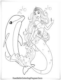 Small Picture Mermaid Coloring Pages Printable The Little Mermaid Color Page