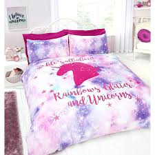 unicorn sheet set rainbow unicorn double bed set unicorn bed set asda