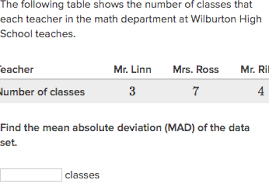 Mean Absolute Deviation Chart Mean Absolute Deviation Mad Practice Khan Academy
