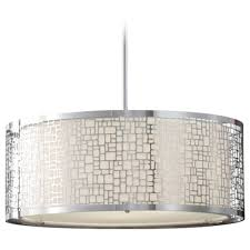 modern drum pendant lighting. modern drum pendant light with white glass in chrome finish lighting o