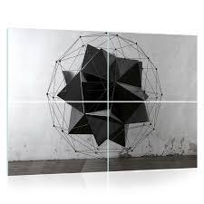 Glasbild Echtglas Wandbild 15f0277600 Geometrie 3d