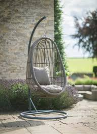 Our All-weather Rattan Hanging Nest Chair comes with its own stand,  allowing you to relax anywhere in the garden