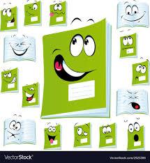 exercise book cartoon vector image