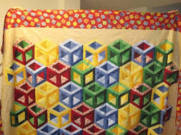 Found in ABC 3-D Tumbling Blocks...and More!, page 44 - Hollow ... & Block quilt Adamdwight.com