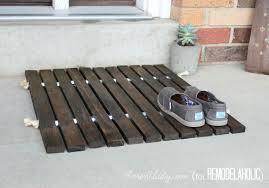 diy wood stake door mat