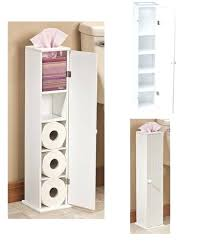 toilet paper stand toilet paper cabinet storage white solid wood bathroom tissue free stand holder toilet